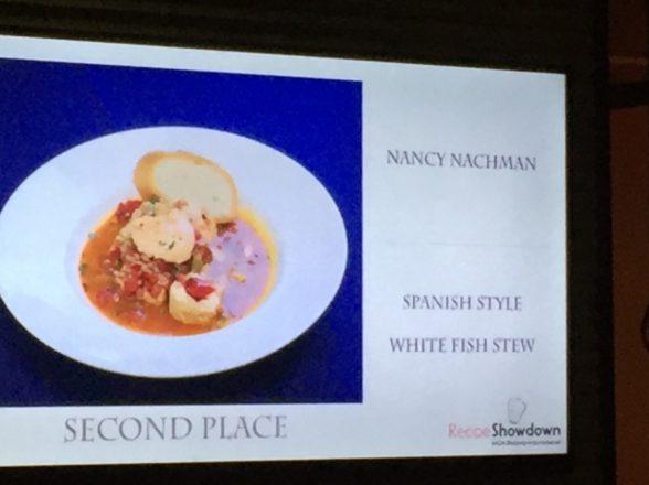 Nancy takes 2nd place in Recipe Showdown